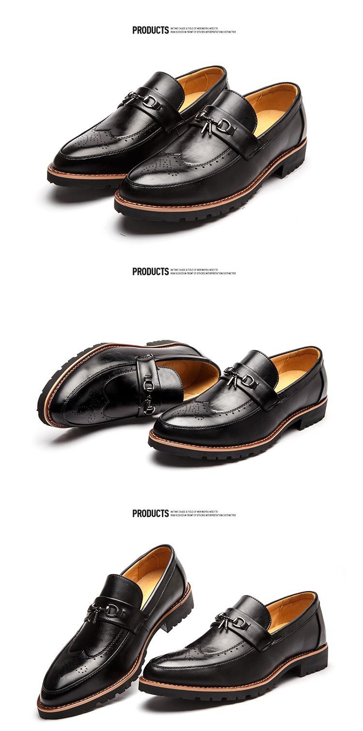Giày mọi da đen g65 - 1