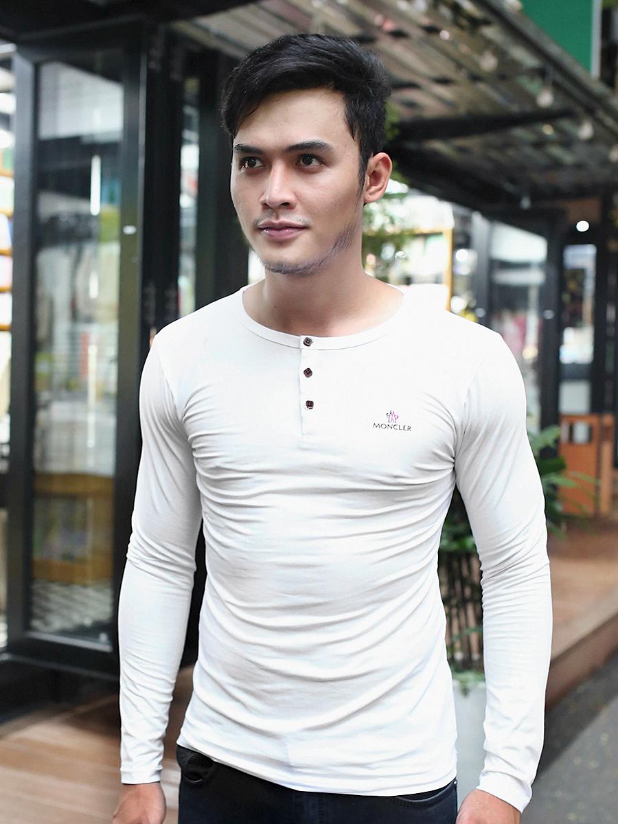 Áo thun tay dài trắng at611 - 1