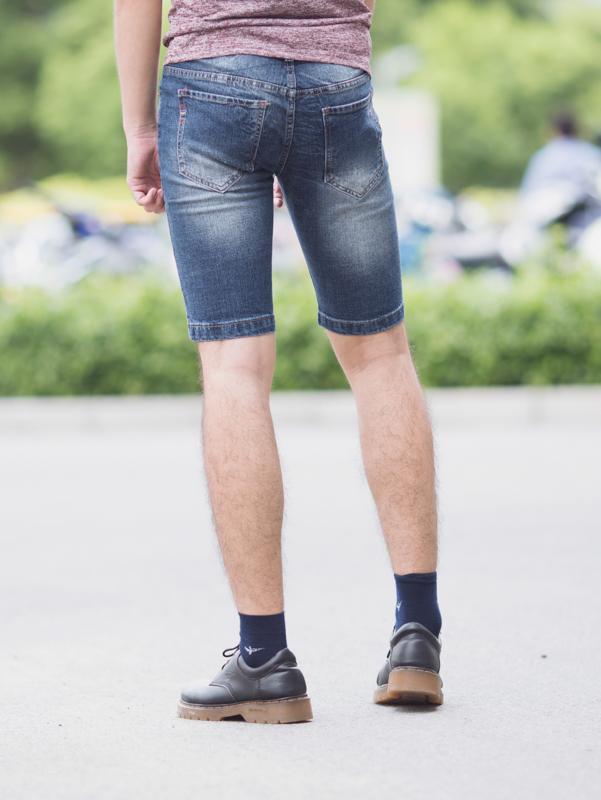 Quần short jean xanh dương đậm qs82 - 2