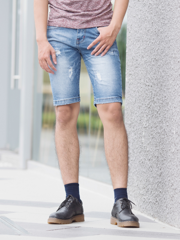 Quần short jean xanh dương qs83 - 1