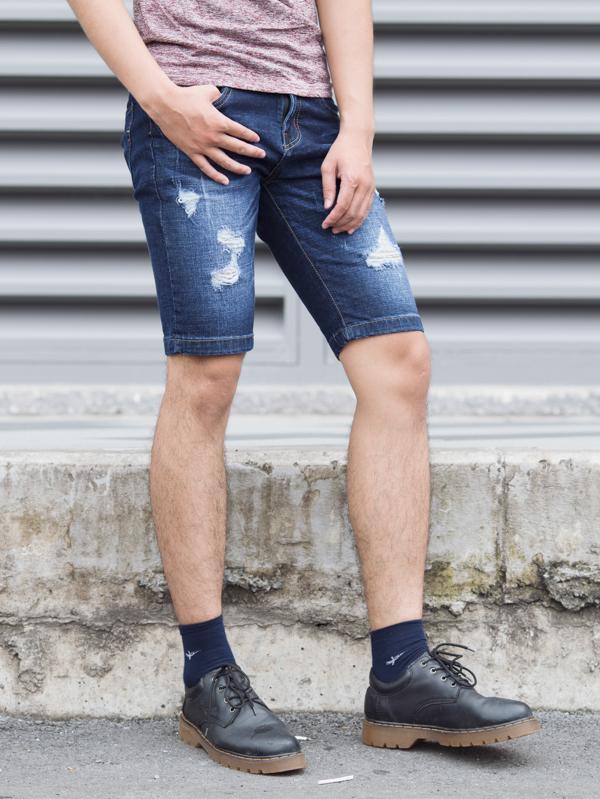 Quần short jean xanh đen qs82 - 2