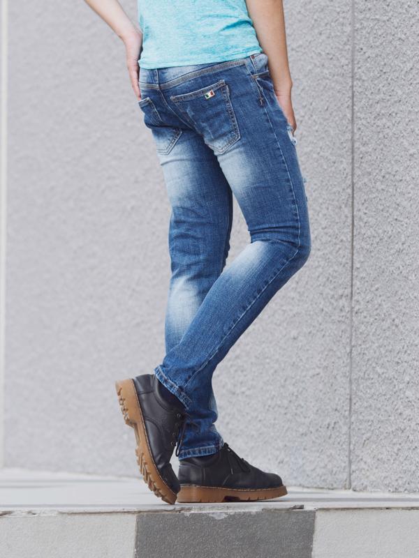 Quần jean xanh qj1399 - 2
