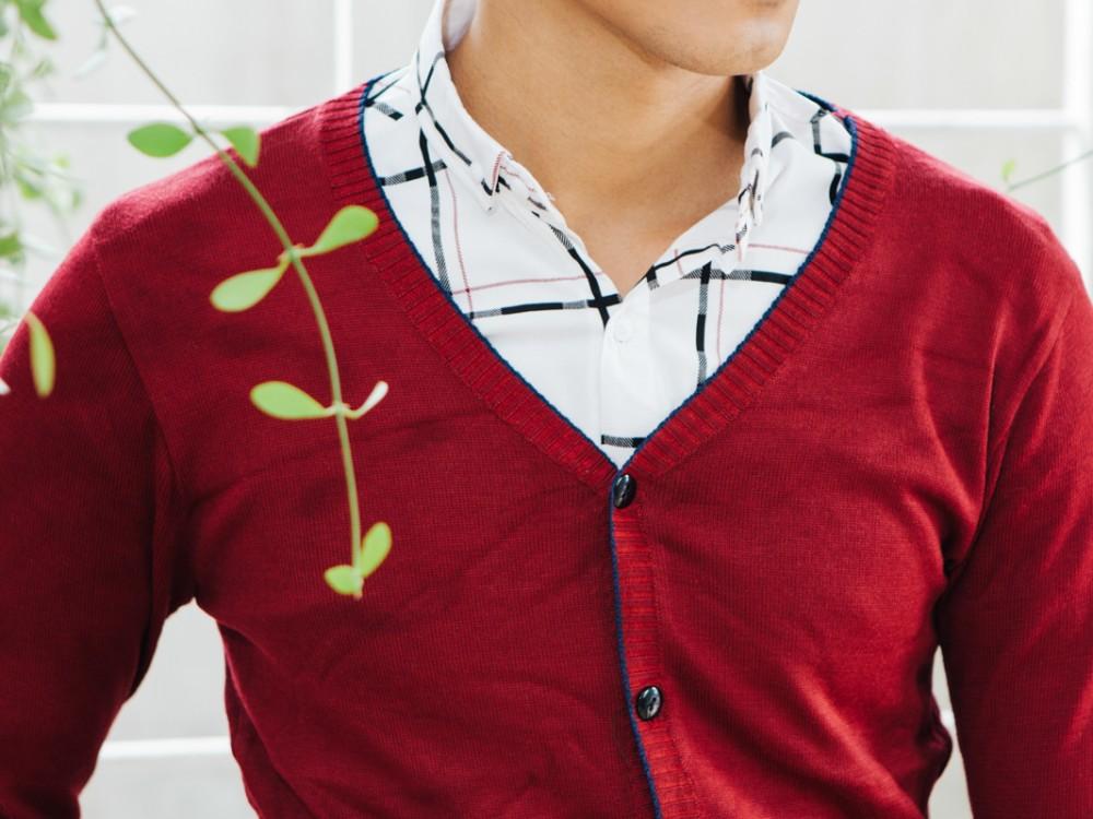 Áo cardigan len đỏ ac087 - 1