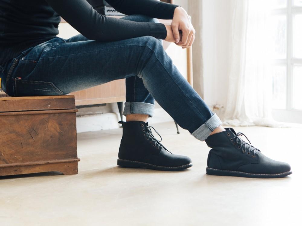 Giày boot đen g90 - 2
