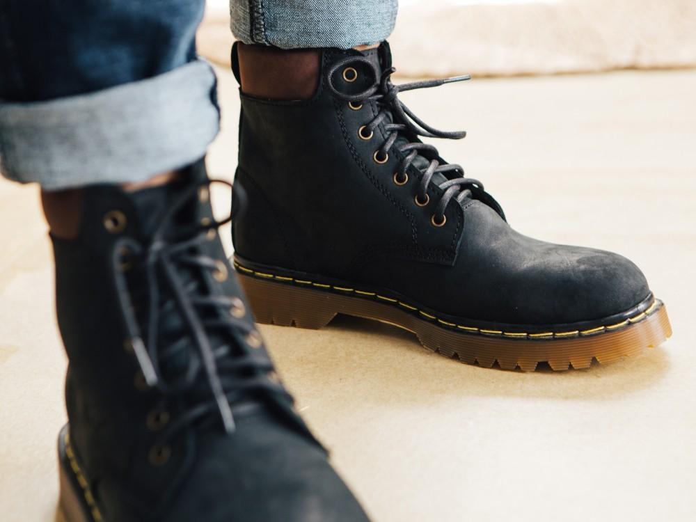Giày boot cổ cao đen g101 - 2