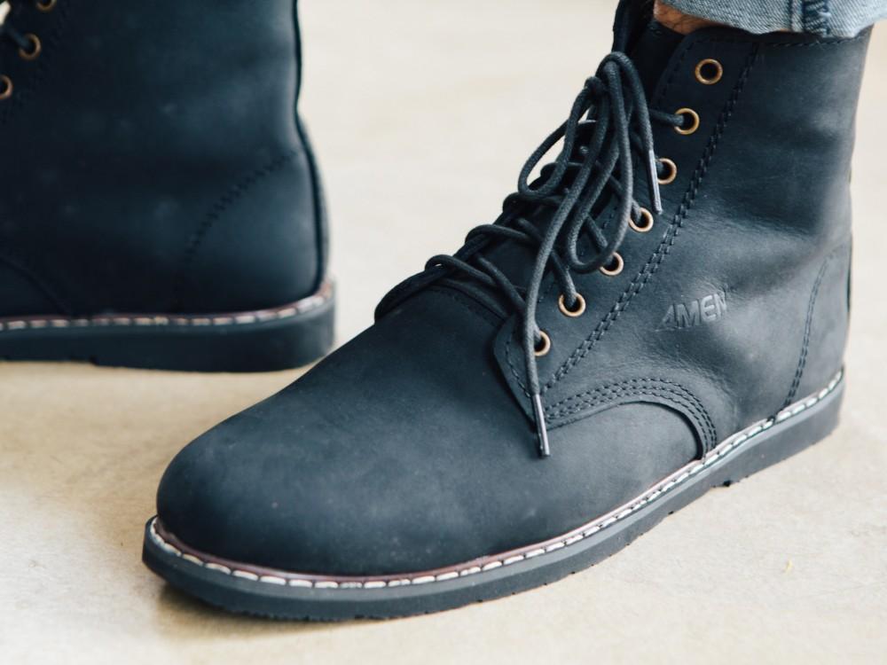 Giày boot đen g90 - 1
