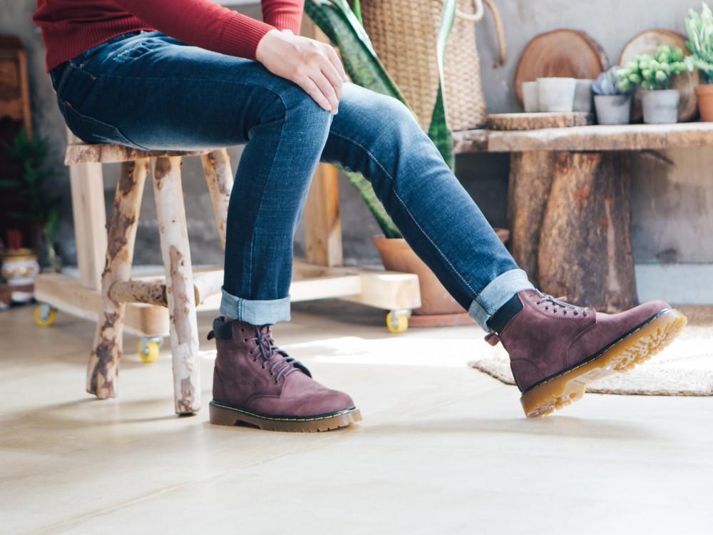 Giày boot cổ cao nâu g101 - 1