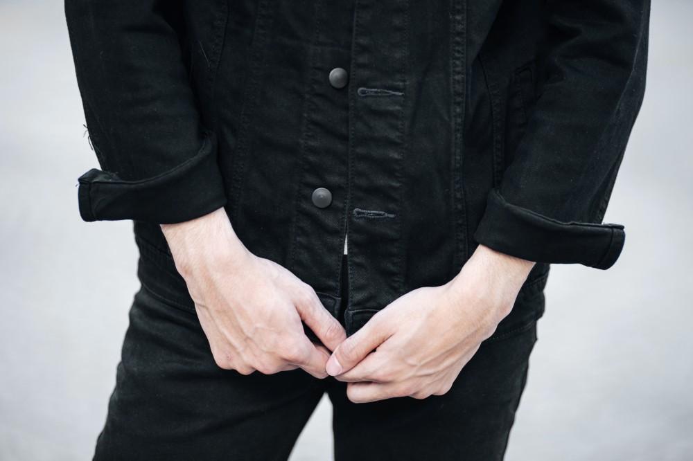 Áo khoác jean đen ak196 - 1