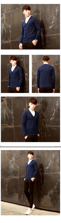 Áo khoác cardigan xanh đen ac088 - 1