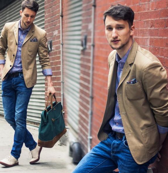 3 tuyệt chiêu giúp chàng phối áo vest hoàn hảo cùng quần jean - 4