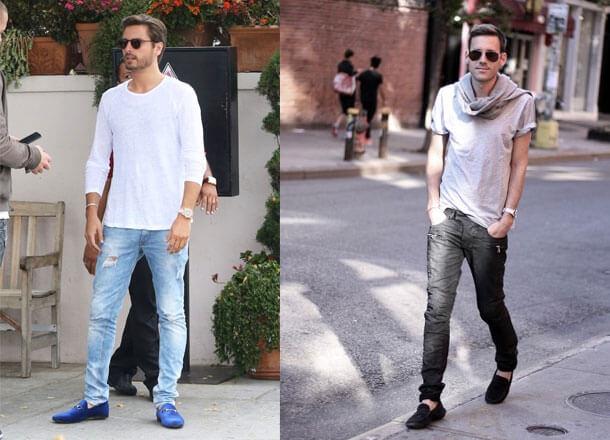Kết quả hình ảnh cho quần jeans mix giày lười