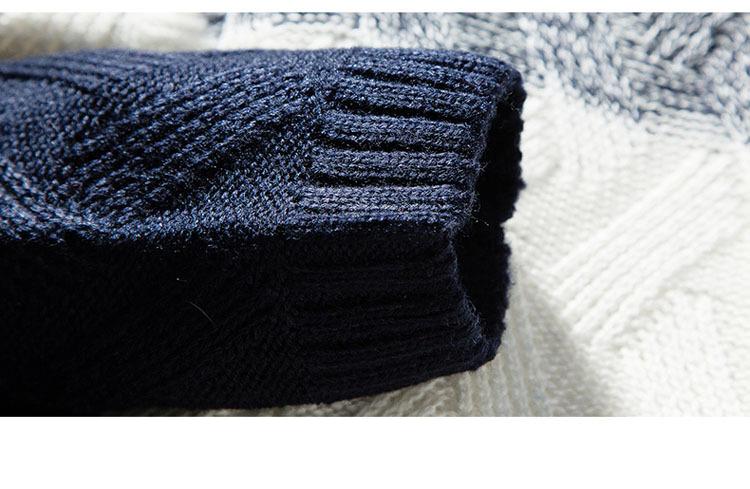 Áo len cổ lọ xanh đen al114 - 4