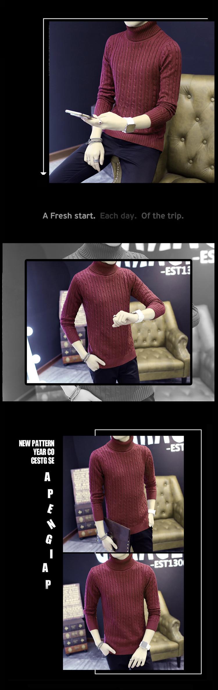 Áo len cổ lọ đỏ đô al116 - 1