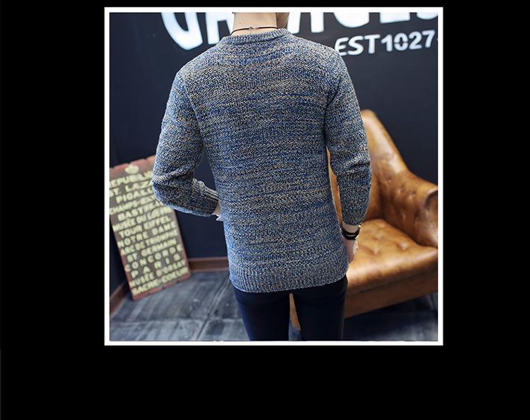 Áo len dệt đốm nâu al115 - 5