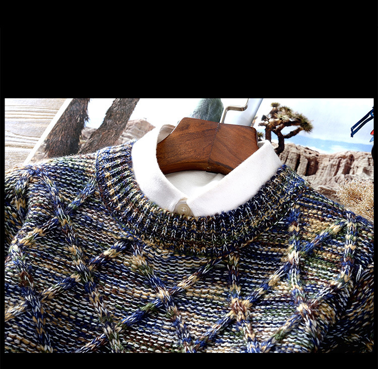 Áo len dệt nổi xanh al112 - 3