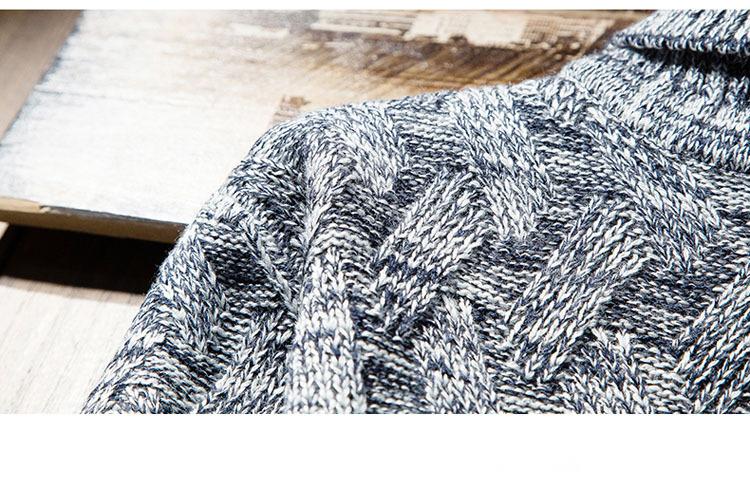 Áo len cổ lọ xanh đen al114 - 3