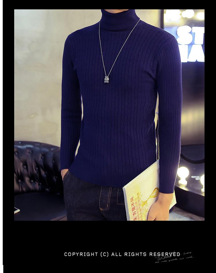 Áo len cổ lọ xanh đen al116 - 1