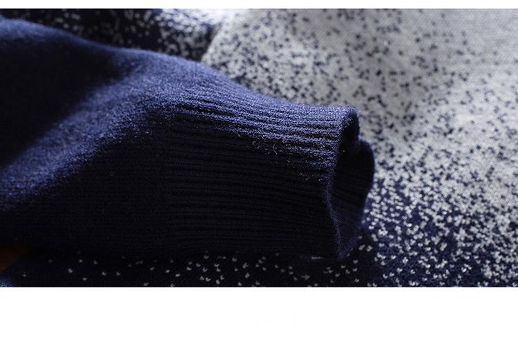 Áo len cổ sơ mi xanh đen al113 - 3