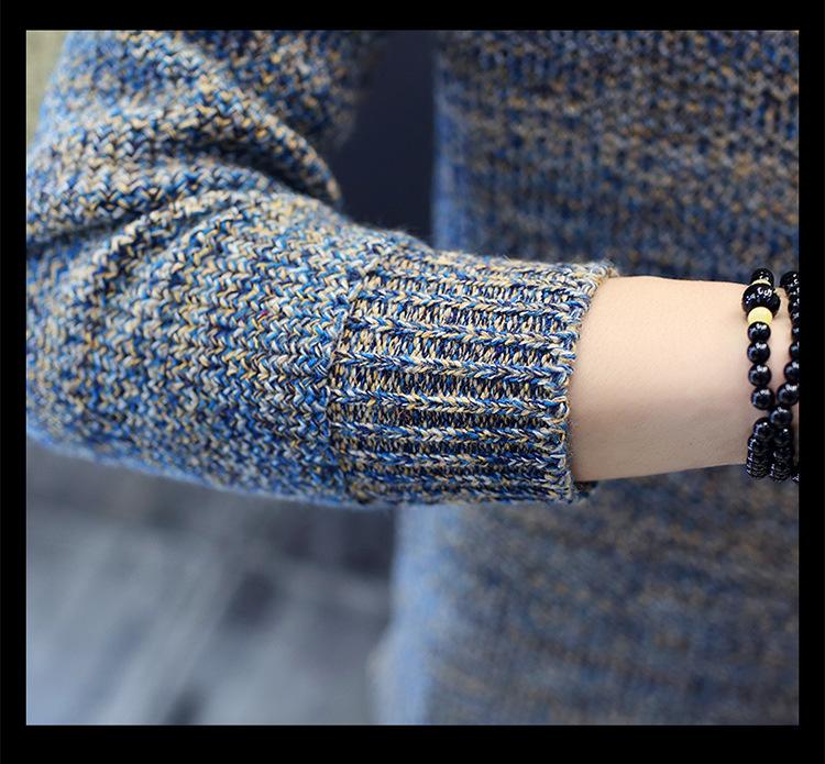 Áo len dệt đốm nâu al115 - 8