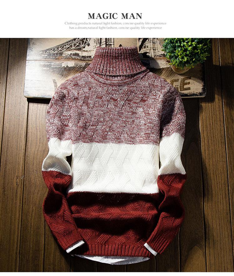 Áo len cổ lọ đỏ al114 - 1