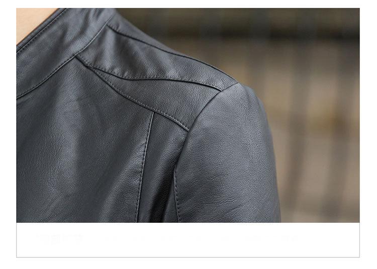 Áo khoác da đen ak230 - 5