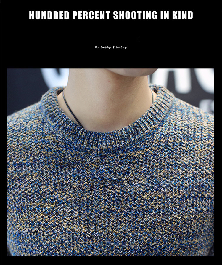 Áo len dệt đốm nâu al115 - 6