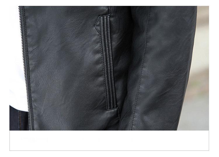 Áo khoác da đen ak230 - 6