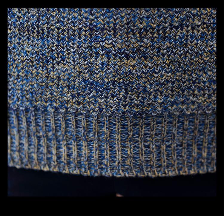 Áo len dệt đốm nâu al115 - 9