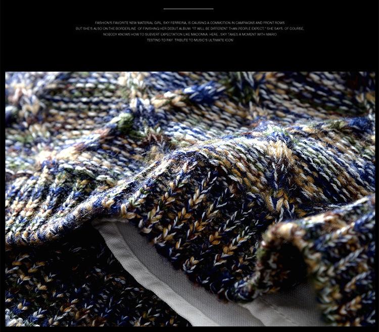 Áo len dệt nổi xanh al112 - 6
