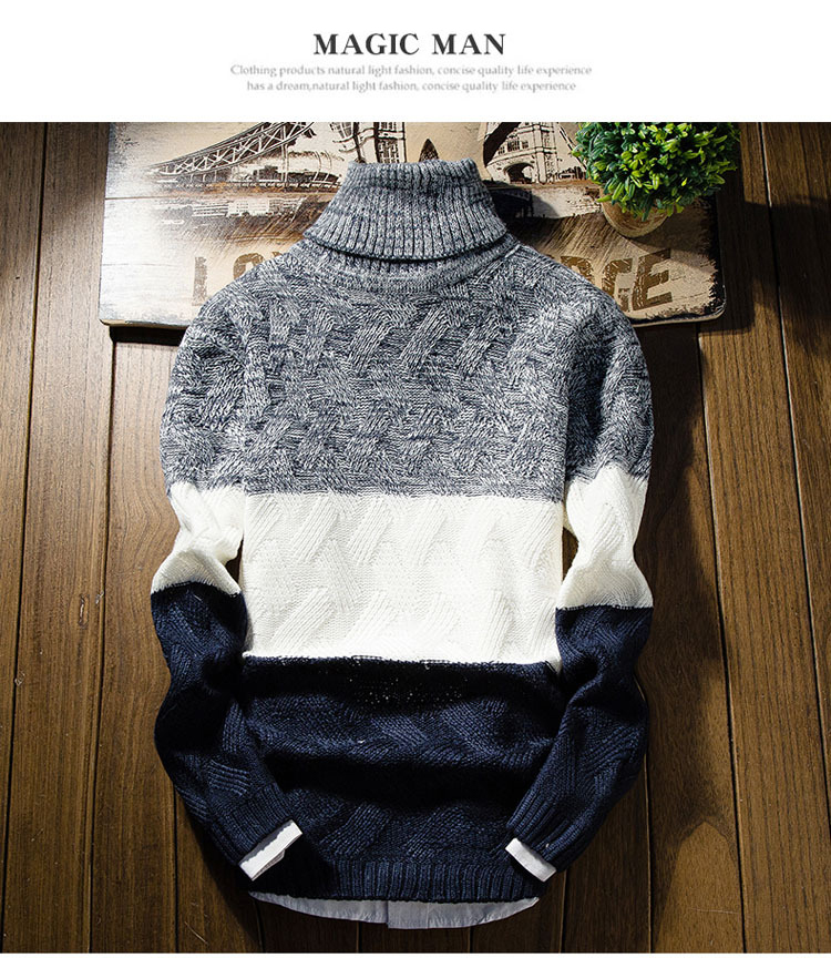 Áo len cổ lọ xanh đen al114 - 1