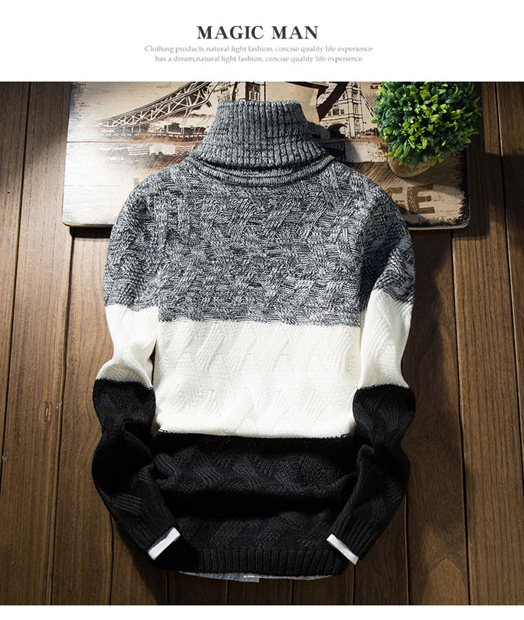 Áo len cổ lọ đen al114 - 1