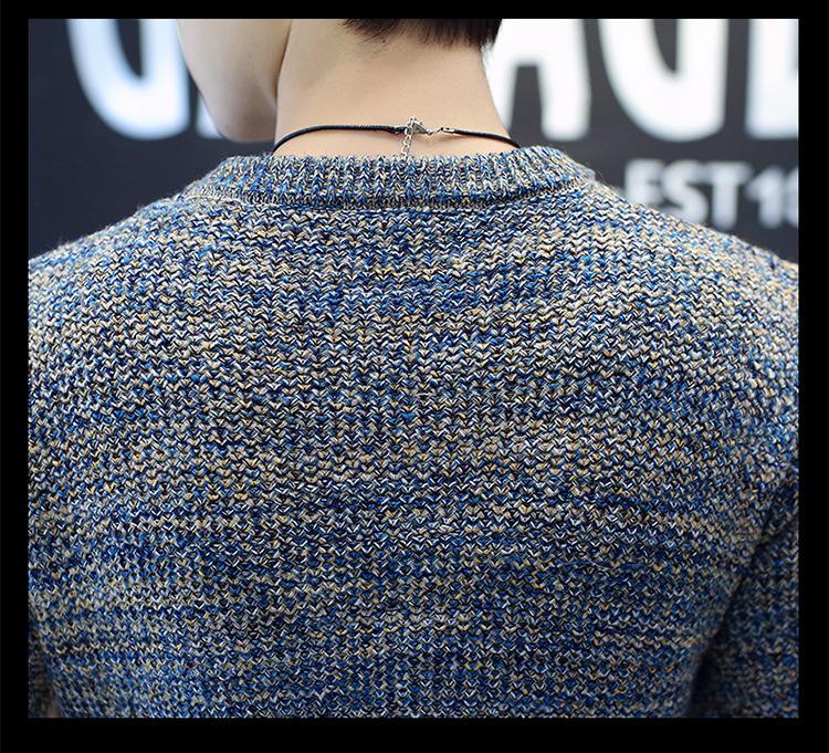 Áo len dệt đốm nâu al115 - 7