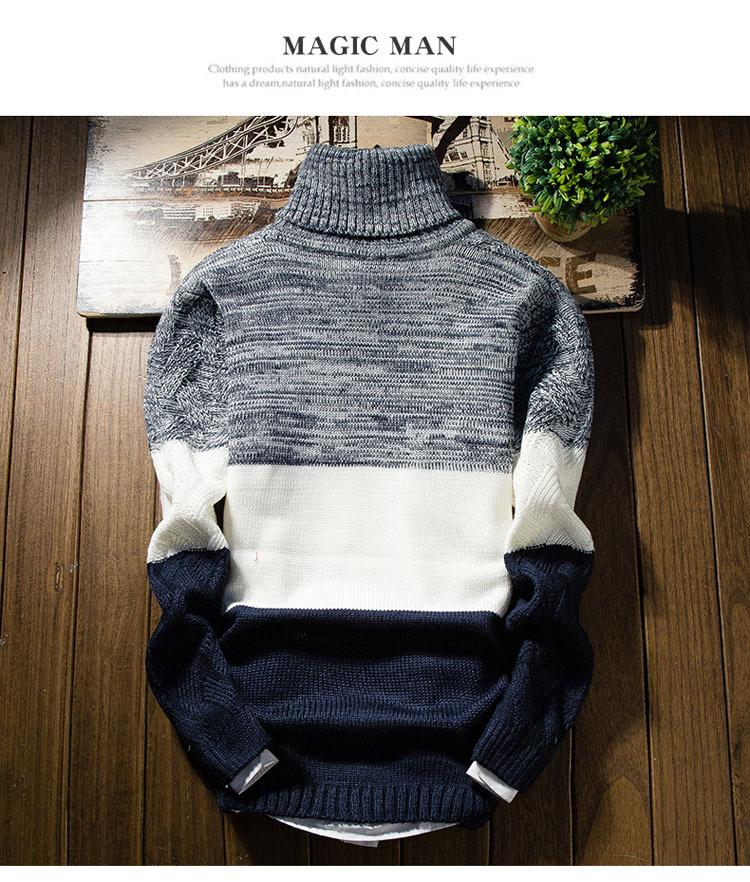 Áo len cổ lọ xanh đen al114 - 5