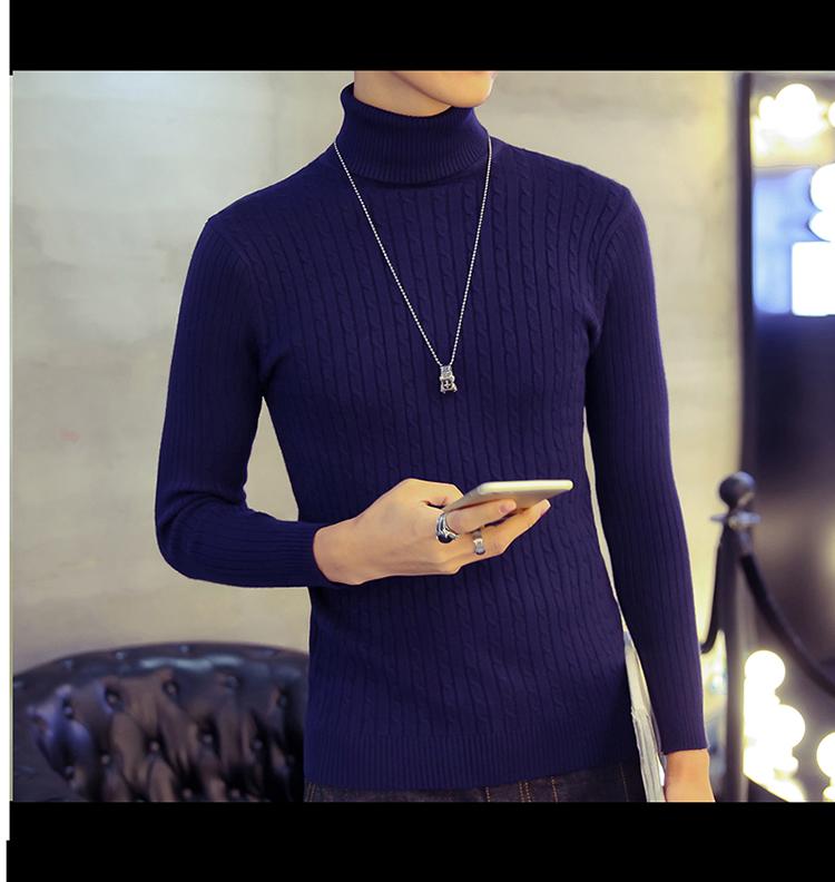 Áo len cổ lọ xanh đen al116 - 2