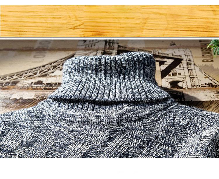 Áo len cổ lọ xanh đen al114 - 2