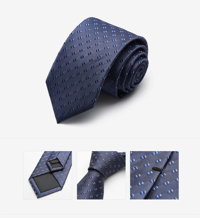 Cà vạt xanh đen cv148 - 1