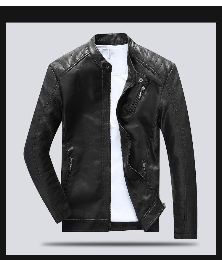 Áo khoác da đen ak239 - 6