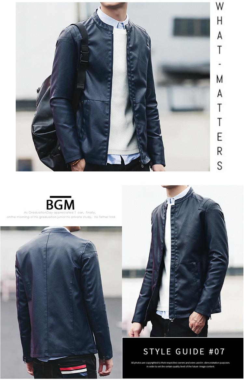 Áo khoác da xanh đen ak235 - 1