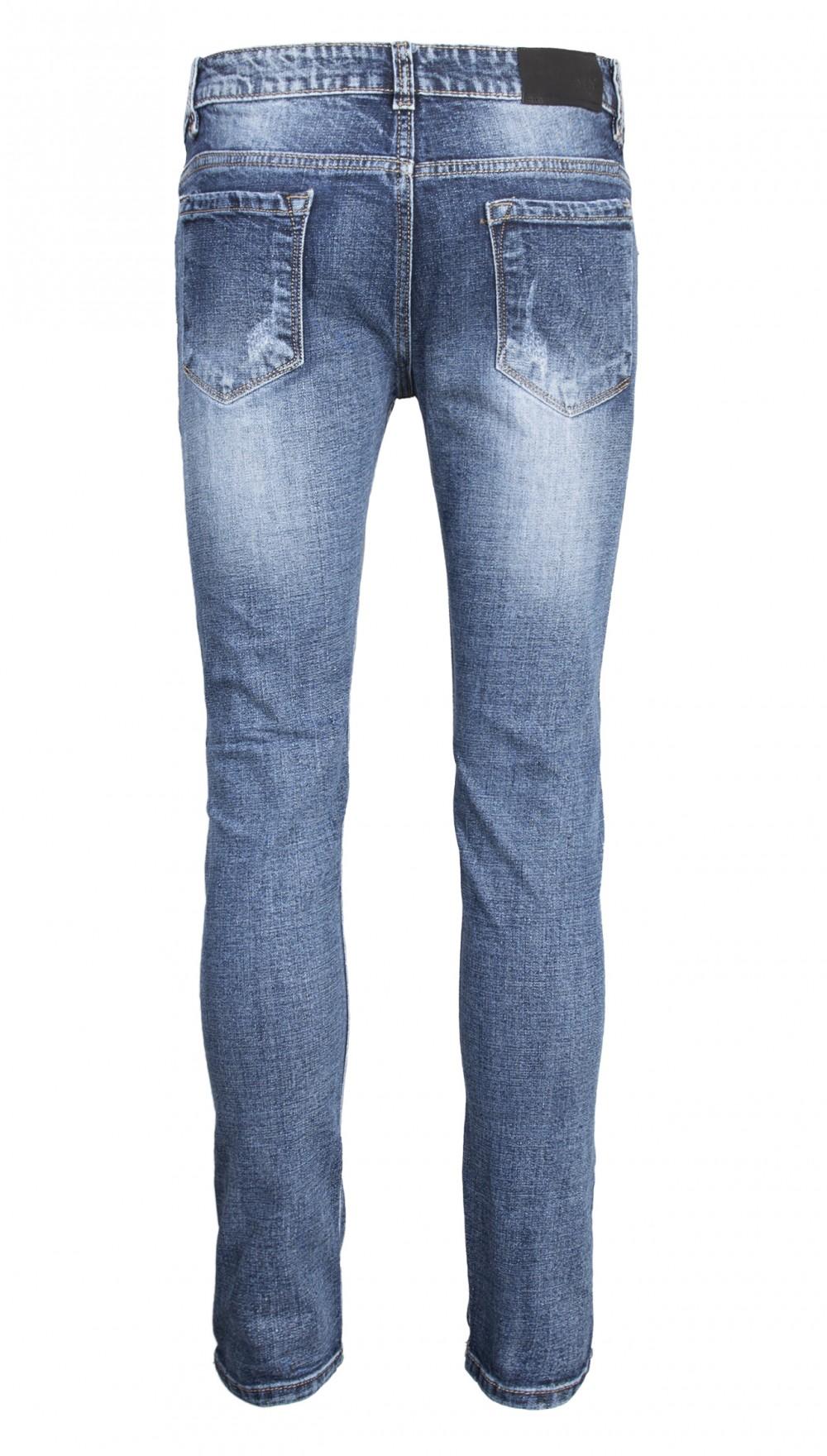 Quần jeans rách xanh đen qj1564 - 2