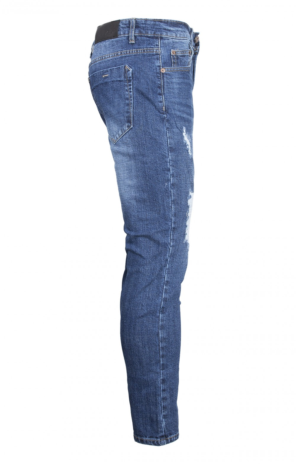 Quần jeans rách xanh đen qj1566 - 4