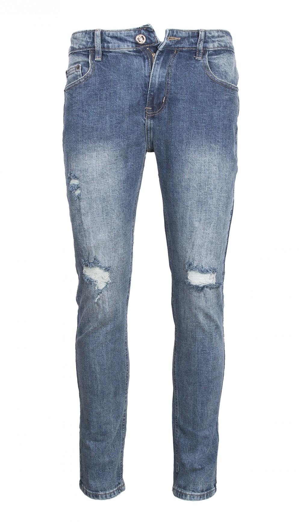 Quần jeans rách xanh rêu qj1565 - 2
