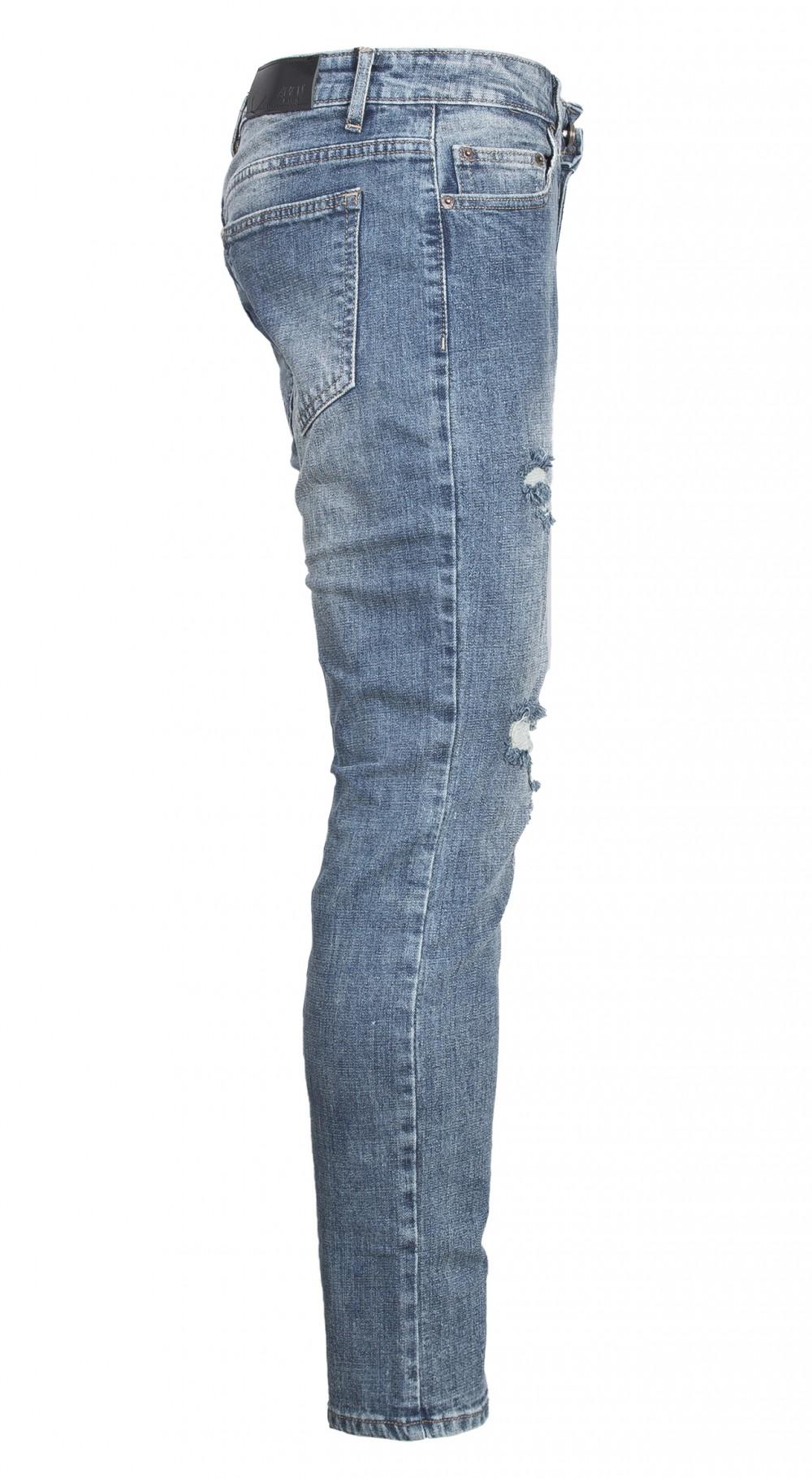 Quần jeans rách xanh rêu qj1565 - 4
