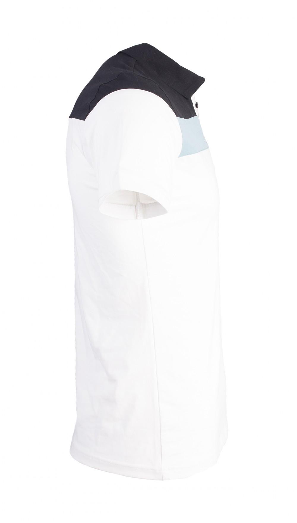 Áo thun có cổ trắng kem at749 - 2