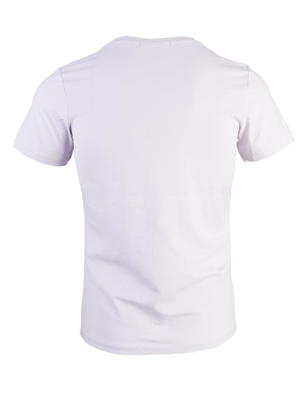 Áo thun cổ tim xám trắng at715 - 2