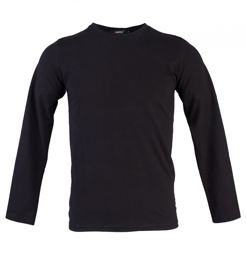 Áo thun tay dài đen at748 - 1