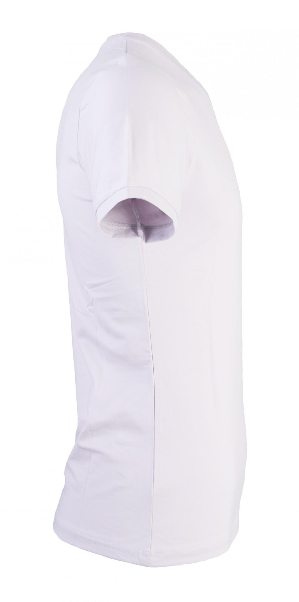 Áo thun cổ tim xám trắng at715 - 3