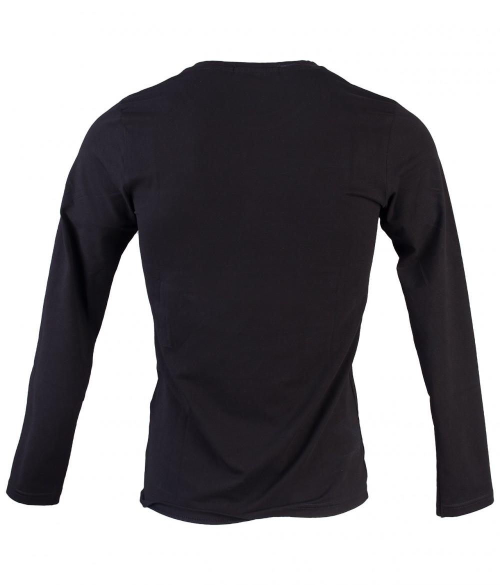 Áo thun tay dài đen at748 - 3
