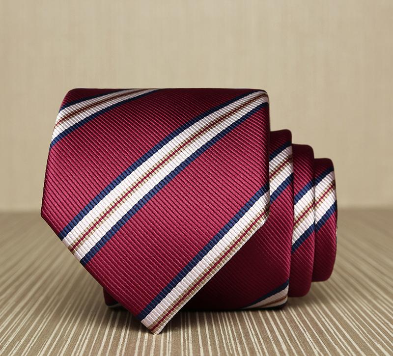 Cà vạt hàn quốc sọc đỏ cv165 - 1