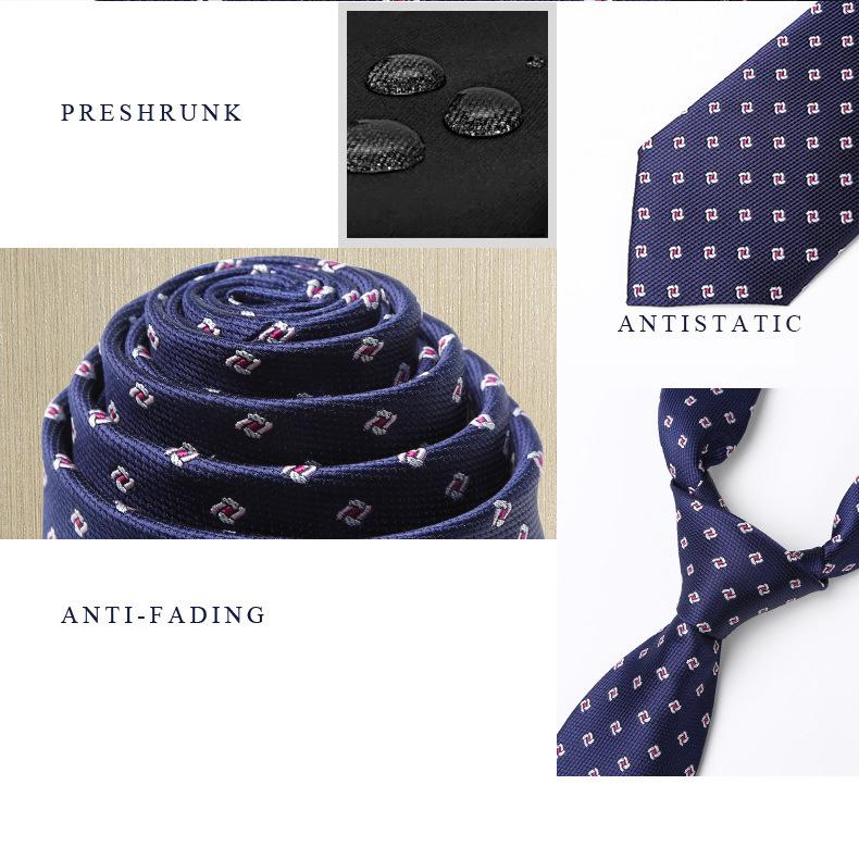 Cà vạt hàn quốc xanh đen cv164 - 3