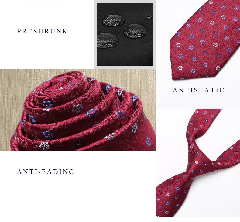 Cà vạt hàn quốc đỏ đô cv160 - 2